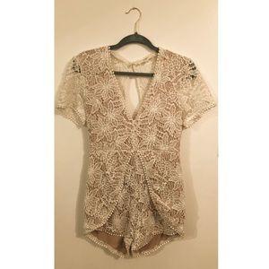 Vintage Looking Crochet Romper